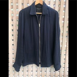 Men's Rag and Bone Lightweight Twill zip up jacket